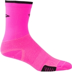 DeFeet Cyclismo Sock: Pink/Black Stripe XL