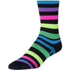 SockGuy SGX Night Bright Sock: Black/Multi-Color