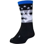 SockGuy Wool Dove Sock: Black/Gray/Blue