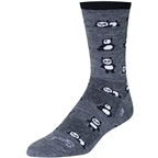 SockGuy Wool Pandamonium Sock: Gray/Black