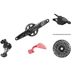 SRAM GX Eagle DUB Groupset: 170mm Boost 32 Tooth Crank, Rear Derailleur, 10-50 12-Speed Cassette, Trigger Shifter, and Chain