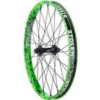 Stolen Rampage Front Wheel Female Axle Toxic Splatter