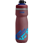 Camelbak Podium Chill Dirt Series Water Bottle: 21oz Burgundy/Blue