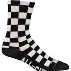 All-City Tu Tone Wool Sock: Black/White