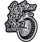 Surly Rollin' Fat Patch: Black/White