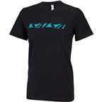 Salsa Downtube Men's T-Shirt: Gray/Teal