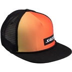 Salsa Devour Sunset Snapback Trucker Cap: Red/Yellow/Black One Size