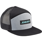 Salsa Devour 7-Panel Snapback Cap: Grey/Black One Size