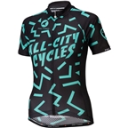 All-City The Max Women's Jersey: Black/Mint