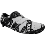 BONT Riot Buckle Road Cycling Shoe: Men's White/Black