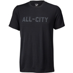 All-City Merino Logo T-Shirt - Black