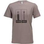 Problem Solvers Presta vs Schrader T-Shirt: Brown