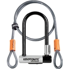 Kryptonite KryptoLok Mini-7- U-Lock with 4' Flex Cable and Bracket
