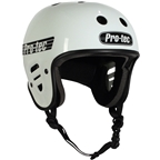 ProTec Full Cut Certified Helmet: Gloss White MD