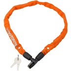 Kryptonite Keeper 465 Chain Lock with Key: 2.13' x 4mm Orange