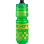 All-City Purist Water Bottle: 26oz Fast is Forever Green