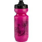 All-City Purist Water Bottle: 22oz 10th Anniversary Pink