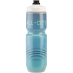 All-City Insulated Purist Water Bottle: 23oz Bright Lines Blue
