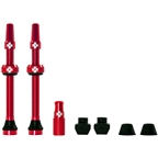 Muc-Off Tubeless Valve Kit: Red, fits Road and Mountain, 60mm, Pair