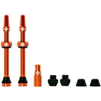 Muc-Off Tubeless Valve Kit: Orange, fits Road and Mountain, 60mm, Pair