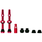 Muc-Off Tubeless Valve Kit: Red, fits Road and Mountain, 44mm, Pair