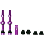 Muc-Off Tubeless Valve Kit: Purple, fits Road and Mountain, 44mm, Pair