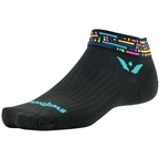 Swiftwick Vision One Morse Socks: Black/Blue