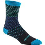 Garneau Conti Long Sock: Black/Blue