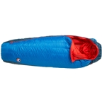 Big Agnes Inc. Anvil Horn 15F Sleeping Bag: 650-fill DownTek Blue/Red Regular