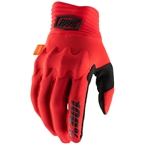 100% Cognito Men's Full Finger Gloves: Red/Black