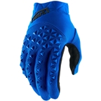 100% Airmatic Men's Full Finger Gloves: Blue/Black