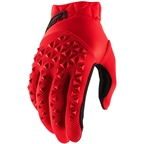 100% Airmatic Men's Full Finger Gloves: Red/Black