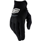 100% Ridecamp Youth Full Finger Gloves: Black