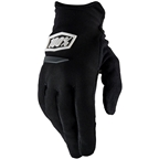 100% Ridecamp Men's Full Finger Gloves: Black