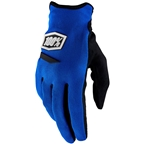 100% Ridecamp Women's Full Finger Gloves: Blue