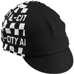 All-City Tu Tone Cycling Cap: Black/White One Size