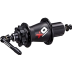 SRAM X0 Rear Disc Hub 28H Black/Red with Axle End Caps for QR and 12x142mm, 9-11 Speed HG Freehub