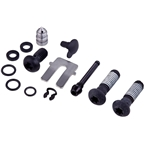 SRAM S4 Guide R/RS/T with Bleeding Edge Caliper Hardware Kit with Black Body Bolt, Banjo Bolt, Bleed Screw, and Pad Pin