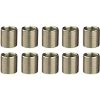 "Unior Proprietary Crank Repair Pedal Thread Inserts for Right Crankarm, 9/16"": 10 Pack, Brass"