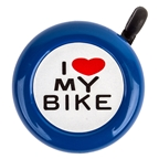 Sunlite I Love My Bike Bell - Blue