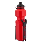 Sunlite 25oz Water Bottle With Steel Cage - Red
