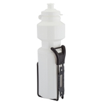 Sunlite 25oz Water Bottle With Steel Cage - White