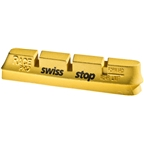 SwissStop RacePro Set of 4 Campagnolo Rim Brake Inserts Yellow King