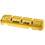 SwissStop FlashPro Set of 4 SRAM/Shimano Rim Brake Inserts, Yellow King Compound