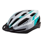 Aerius V-19 Sport Helmet, Silver/Turquoise, SM/MD