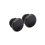 Origin8 Alloy Road Push-In Bar End Plugs, Anodized Black