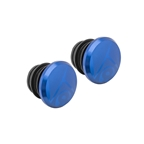 Origin8 Alloy Road Push-In Bar End Plugs, Anodized Blue