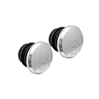 Origin8 Alloy Road Push-In Bar End Plugs, Anodized Silver