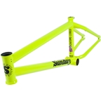 "Sunday Street Sweeper BMX Frame - 20.5"" TT, Flourescent Yellow"