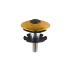 "Origin8 Capster Headset Top Cap with Star Nut, 1-1/8"", Gold"